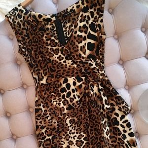Nanette Lepore 4 silk leopard print dress